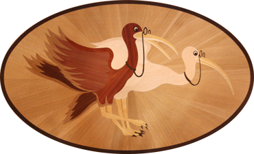 Ciardelli birds wood carving, propane delivery & oil delivery company logo